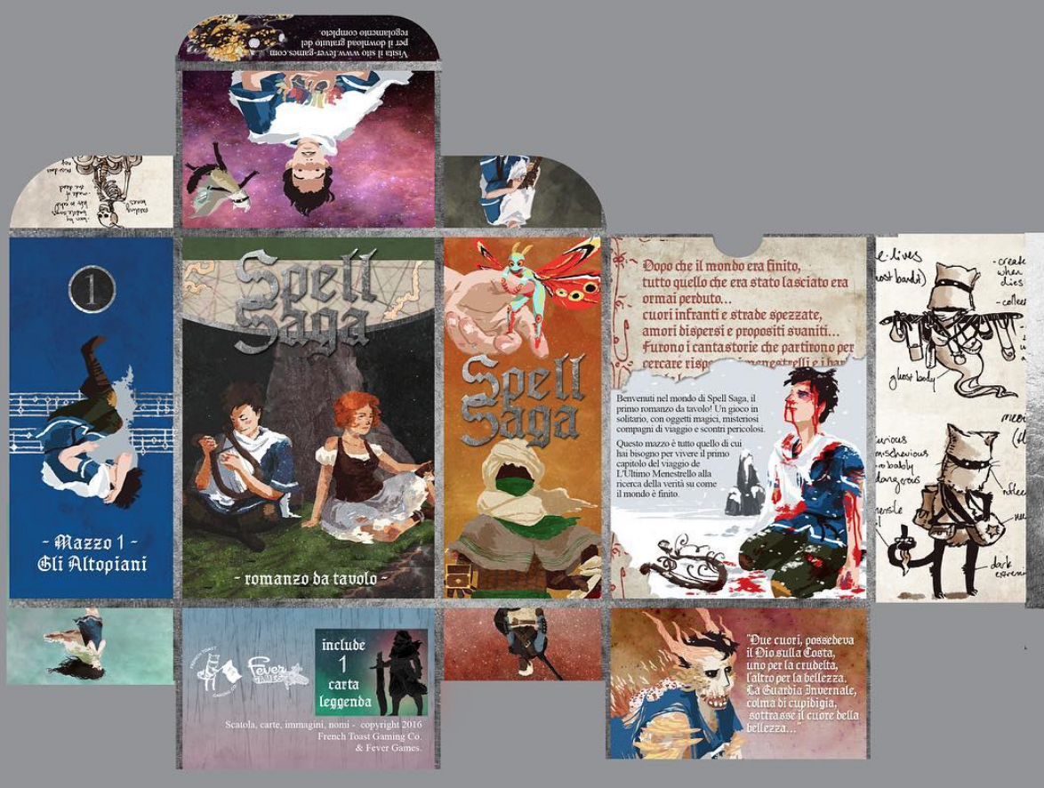 2016 Italian Edition of Deck One ~ The Highlands packaging mock up