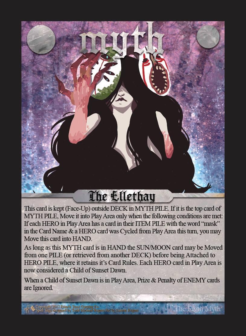 2017 Ellethay MYTH card by Lauren Rogers