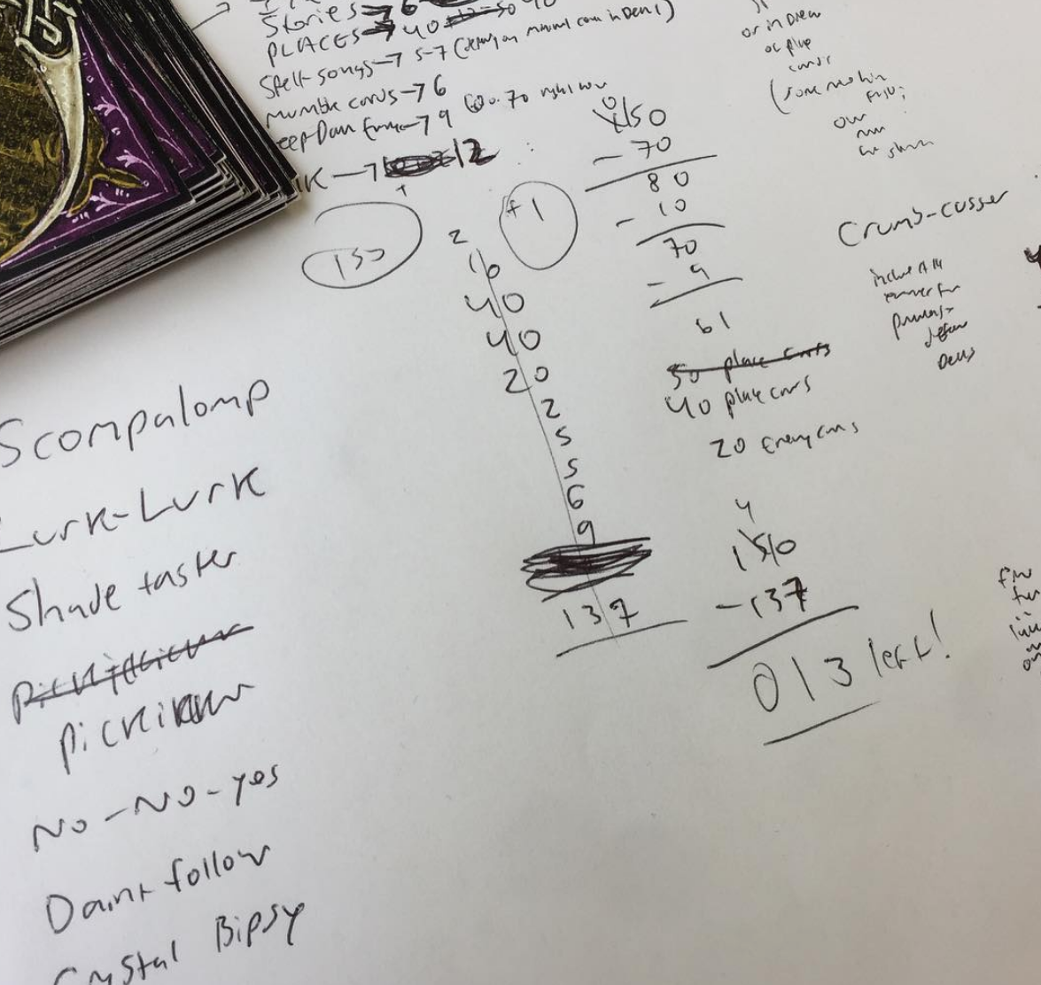 2017 Todd attempts to work out the card numbers and new ENEMY cards of Deck 3 ~ The Caves