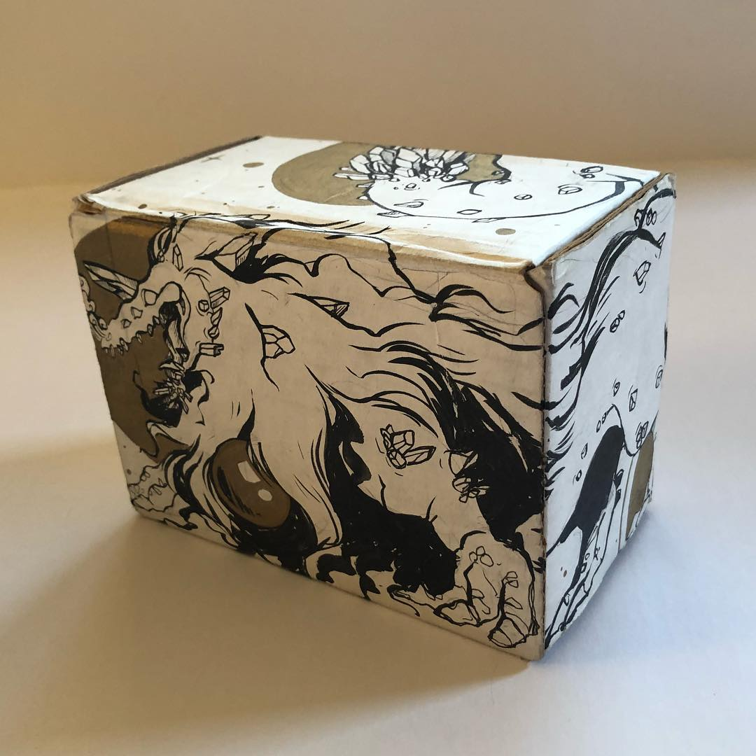 Music Box Prototype with new illustrations by Lauren Rogers