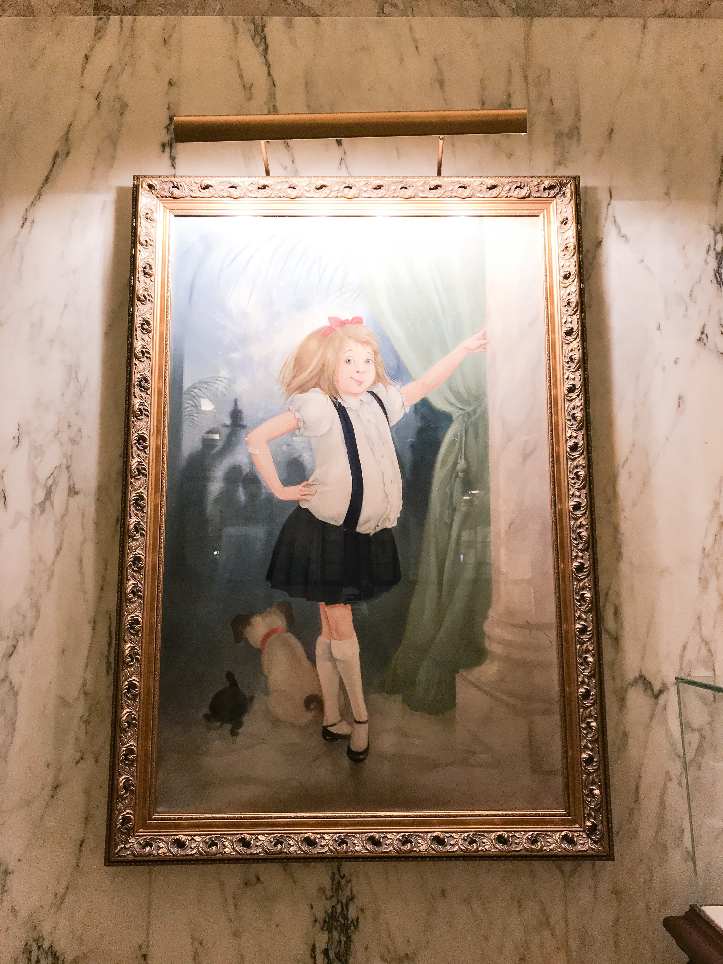 this is the Eloise portrait in the main lobby!