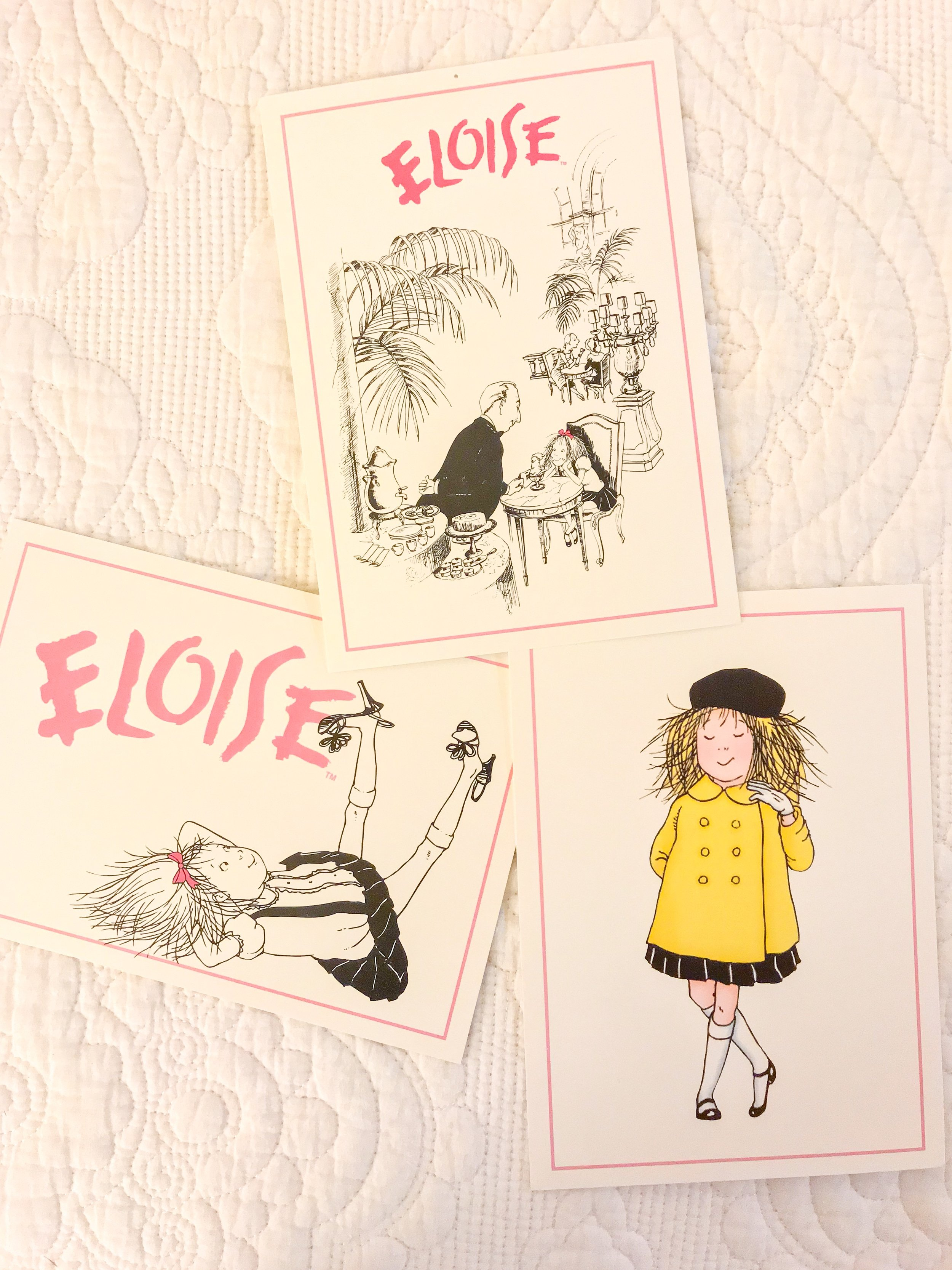 These are my postcards i purchased at the eloise boutiQue :)