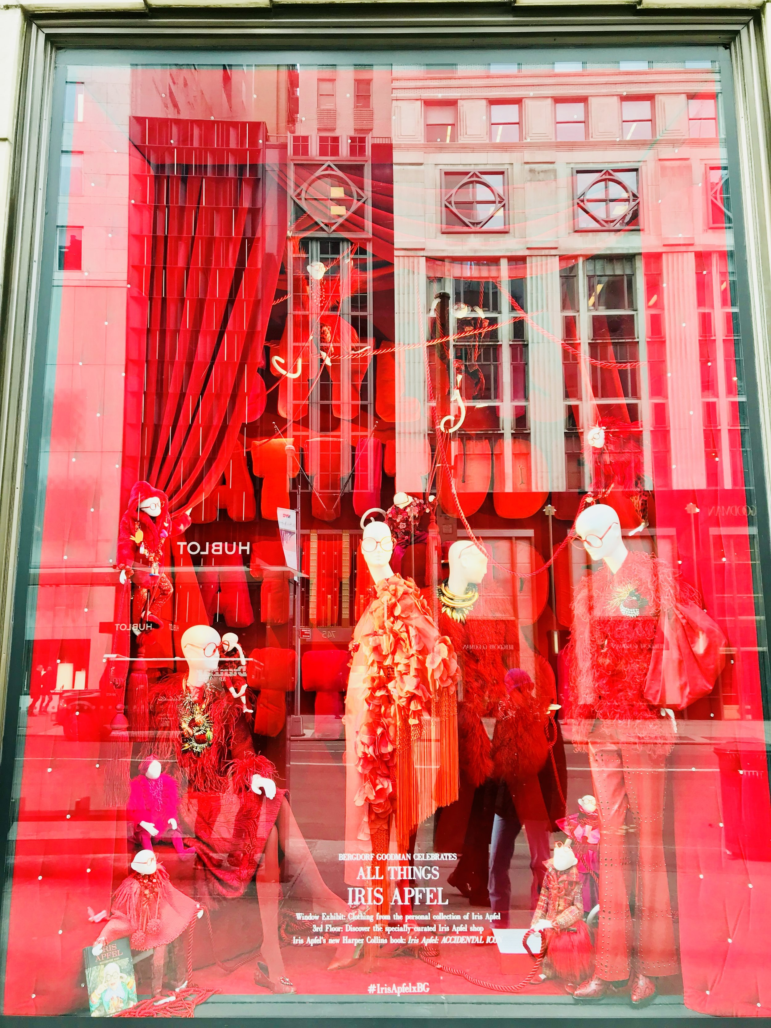 """syle is attitude, attitude, attitude"" windows honoring iris apfel, march 2018"