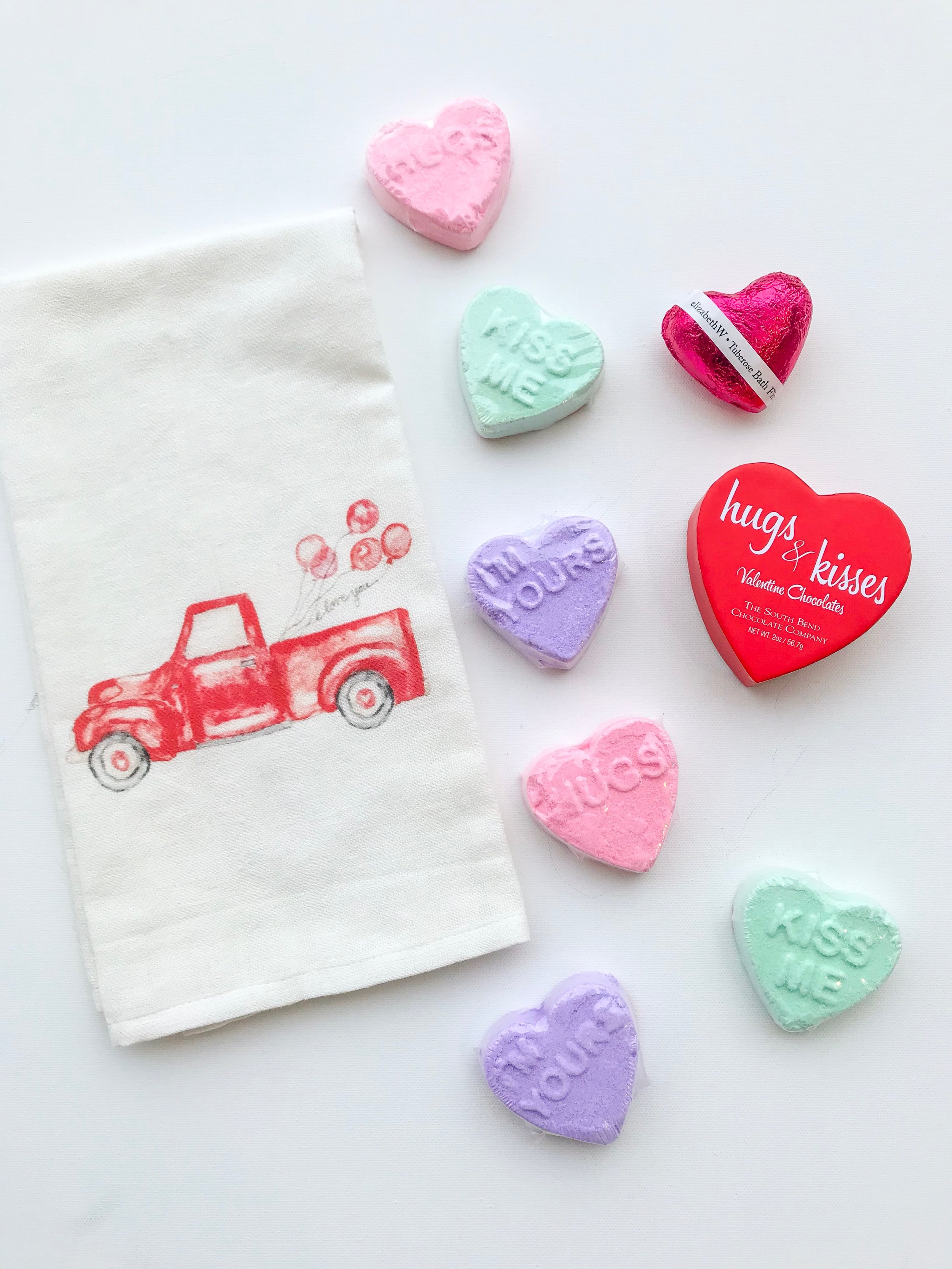 I captured this photo of some of their featured valentine's day products!
