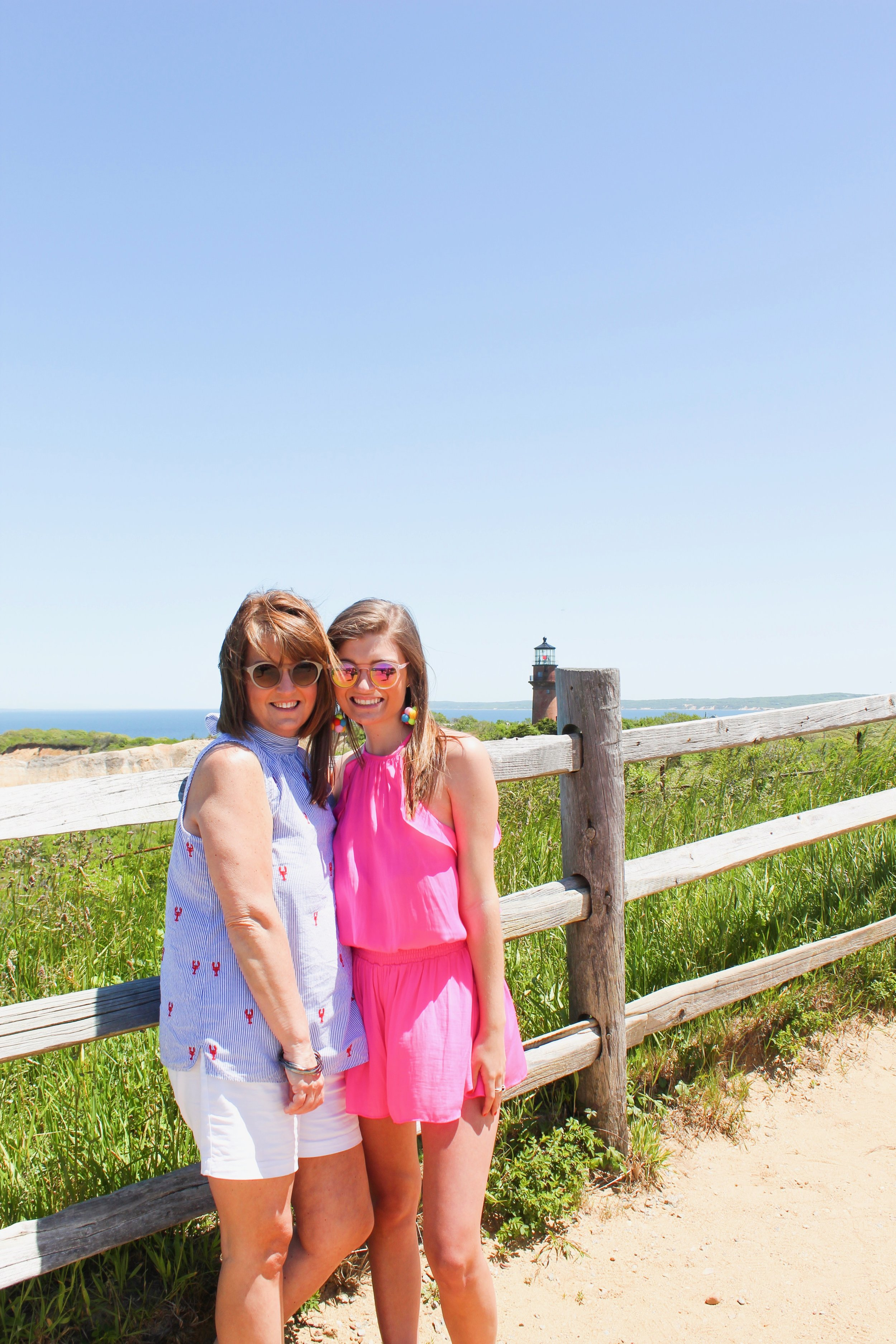 mom and I at the gay head lighthouse!