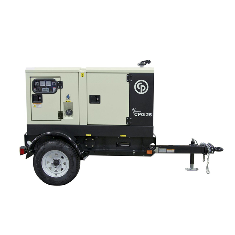 Mobile Diesel Generator CPG 25 T4F  The CPG generator range was designed to meet the tough demands of the construction industry. The CPG 25 T4F has a rated prime power of 20 kW/25 kVA.