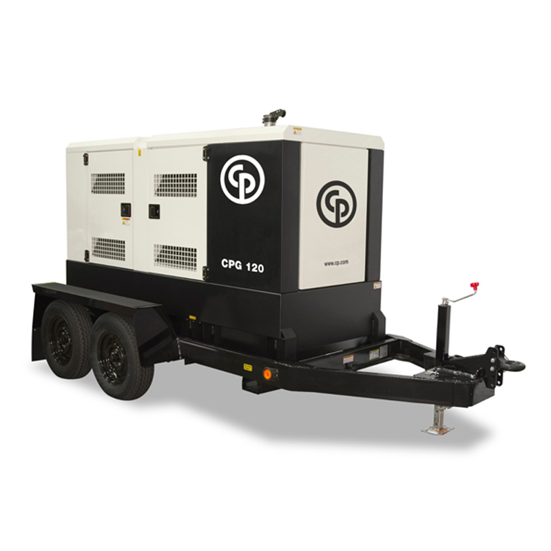 Mobile Diesel Generator CPG 120 T4F  The CPG generator range was designed to meet the tough demands of the construction industry. The CPG 25 T4F has a rated prime power of 100 kW/125 kVA.