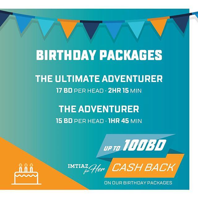 Get up to 100BD cash back on all @adventurecube.me birthday packages using an @imtiazforher card! 🎂 Celebrate your #birthday with us for a memorable experience! 🎉.. • • • احصل على خصم يصل إلى ١٠٠د.ب على جميع عروض أعياد الميلاد في ادفينشر كيوب عند استخدام بطاقة امتياز! 🎂 احتفل بعيد ميلادك في ادفينشر كيوب واستمتع بتجربة لا تنسى! 🎈.. • • • #birthdayparty #ropescourse #obstaclecourse #befit #funparty #birthdaycake #highropes #experience #funtimes #caveexpedition #happybirthday #bahraininstagram #imtiazforher