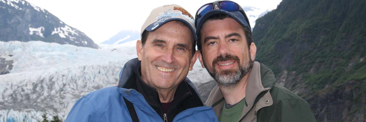 At the Mendenhall Glacier, Juneau Alaska 2008 during dad's final vacation. The Original Mr. Positive lives in me today.