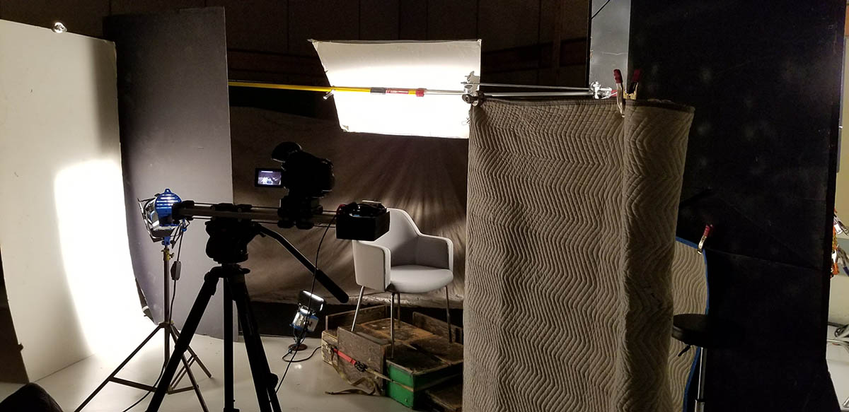 The Atlanta interview setup in GP Studios.