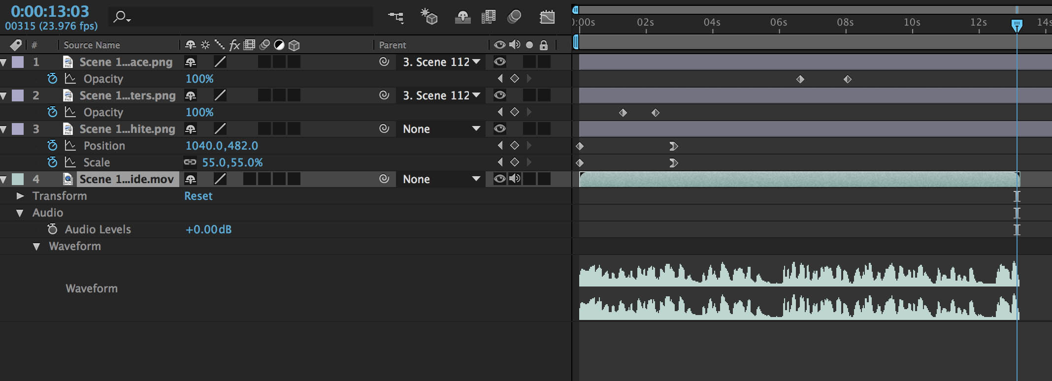 Resolve exported guide files on Layer 4 in After Effects