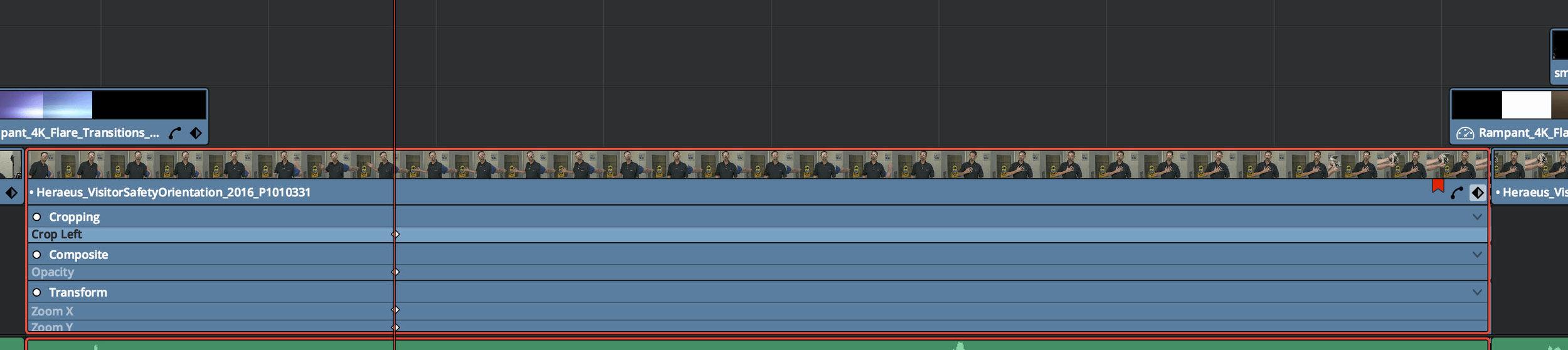 Keyframe Viewer in the Edit Panel Timeline