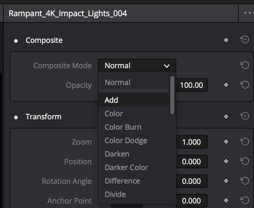 Composite Controls in the Inspector