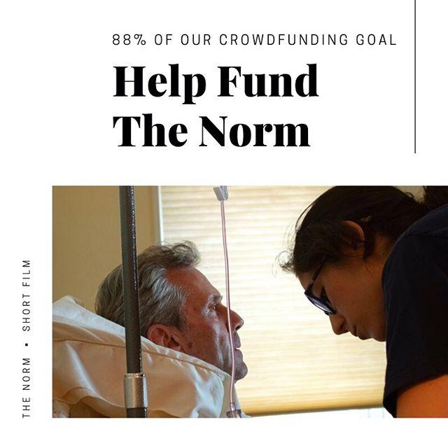 Chip in $5 to help us reach our fundraising goal to bring #TheNormFilm to the world. • • • #crowdfunding @seedandspark #independentfilm #shortfilm #filmmaking #filmindustry #moviemaking #filmmakinglife #filmmaker #indiefilm #filmfeed #filmcommunity  #madeinny #made_in_ny #nycfilm #nycfilmmaker  #setlife #onset #nursing #nurselife #nurses #rn #nursesrock #nurseproblems #nursesunite #cancernurse #hospice #hospicecare #hospicenurse #caregiversupport