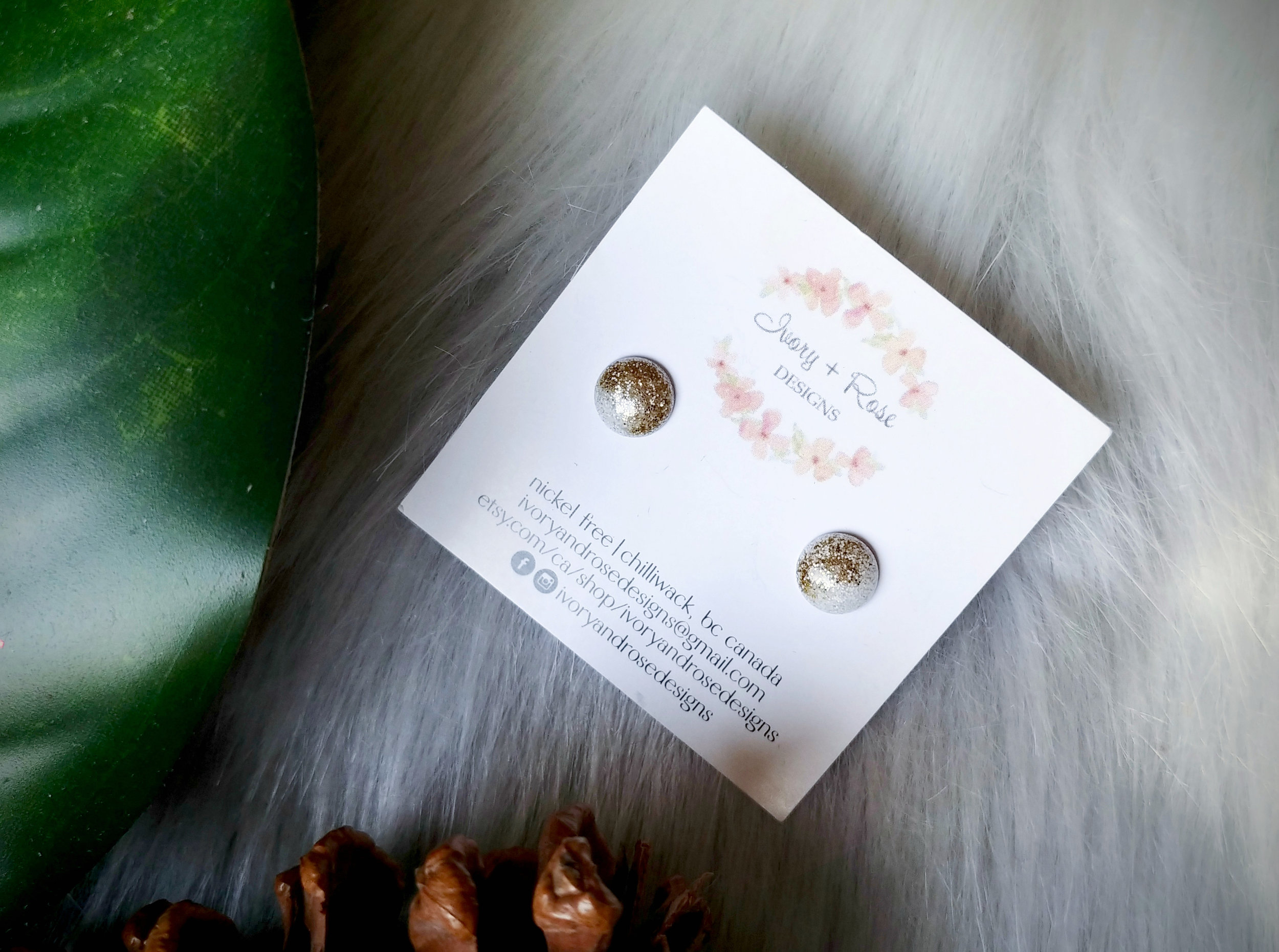 Resin Earrings by Ivory and Rose Designs
