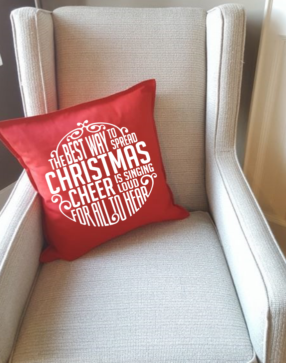 Elf quote pillow, Cut and Create Designs, Surrey BC