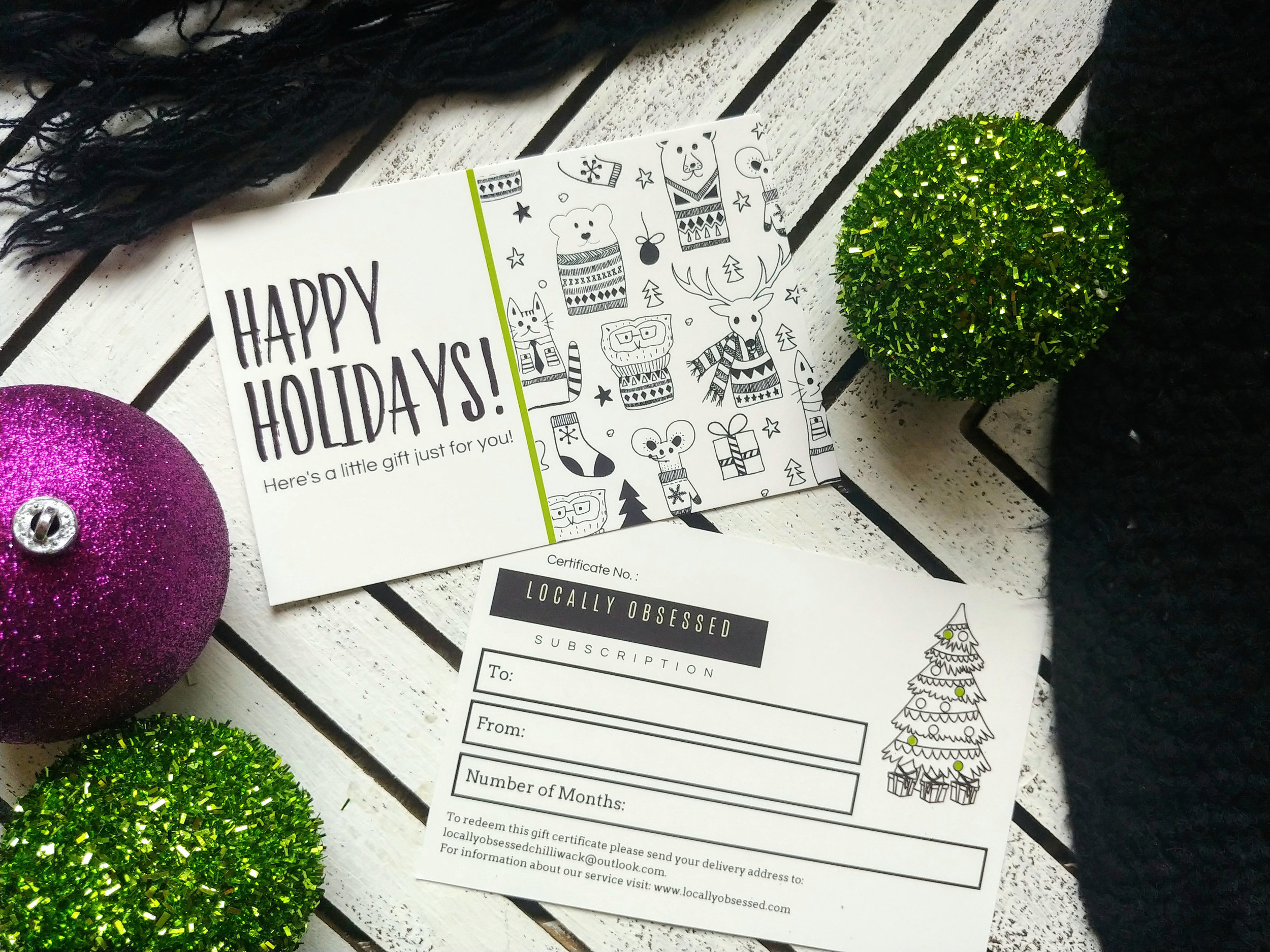 Locally Obsessed Gift Certificate