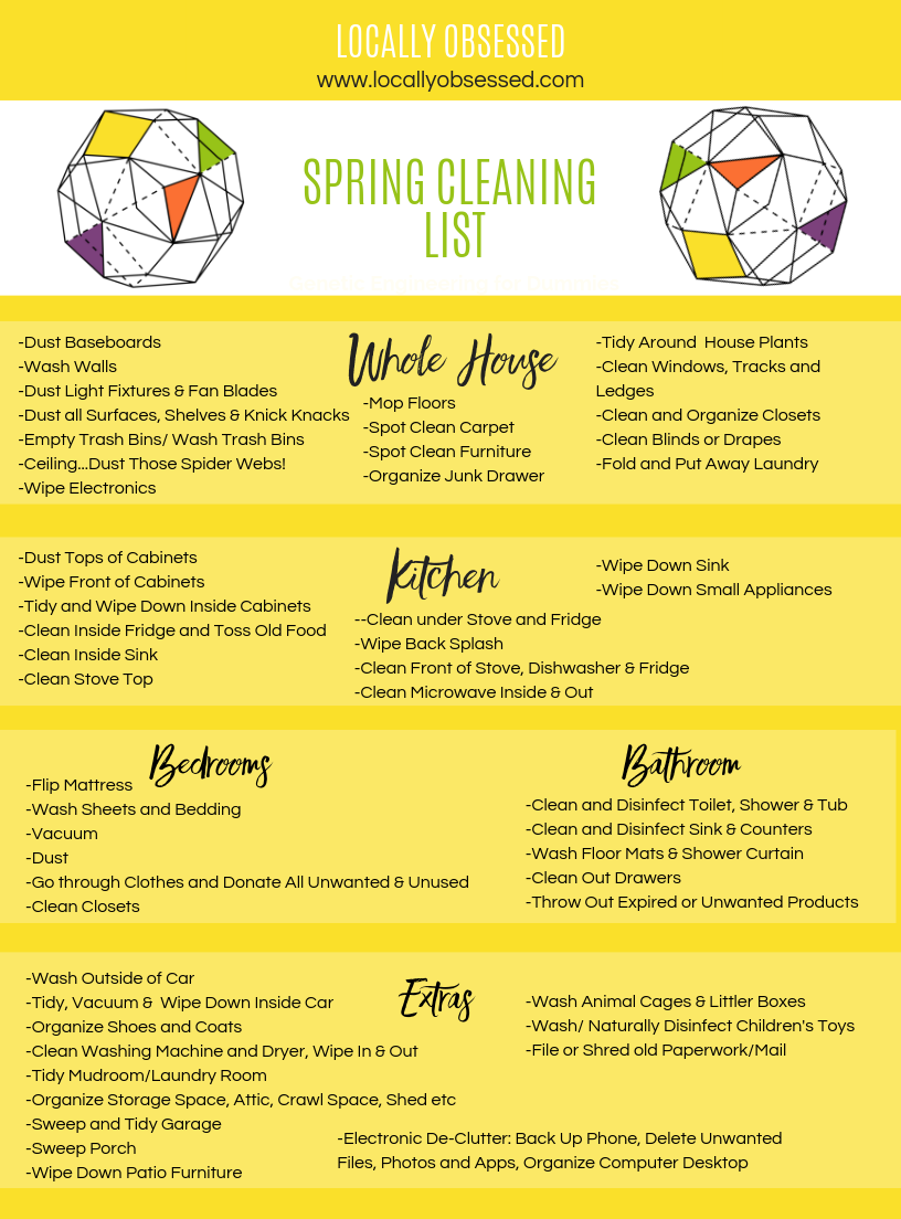 Spring Cleaning List by Locally Obsessed