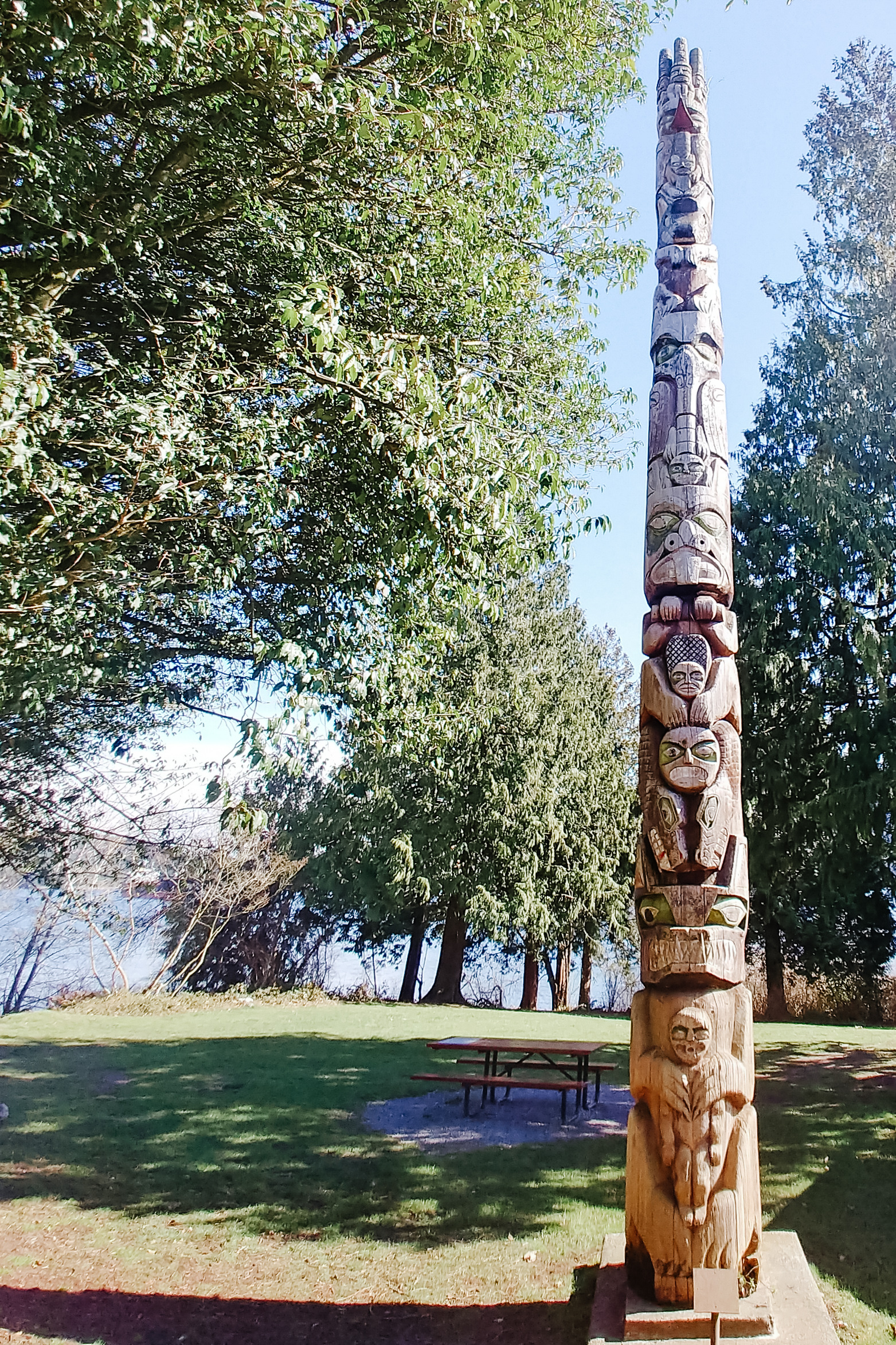 Totem Pole. North Vancouver BC