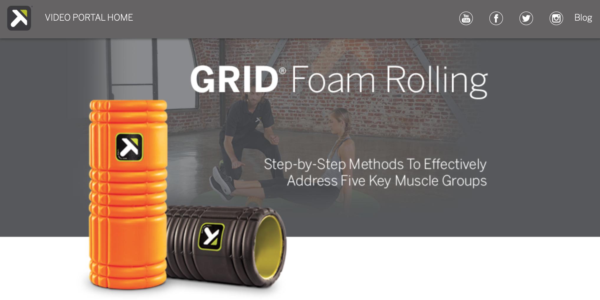 grid foam rolling videos