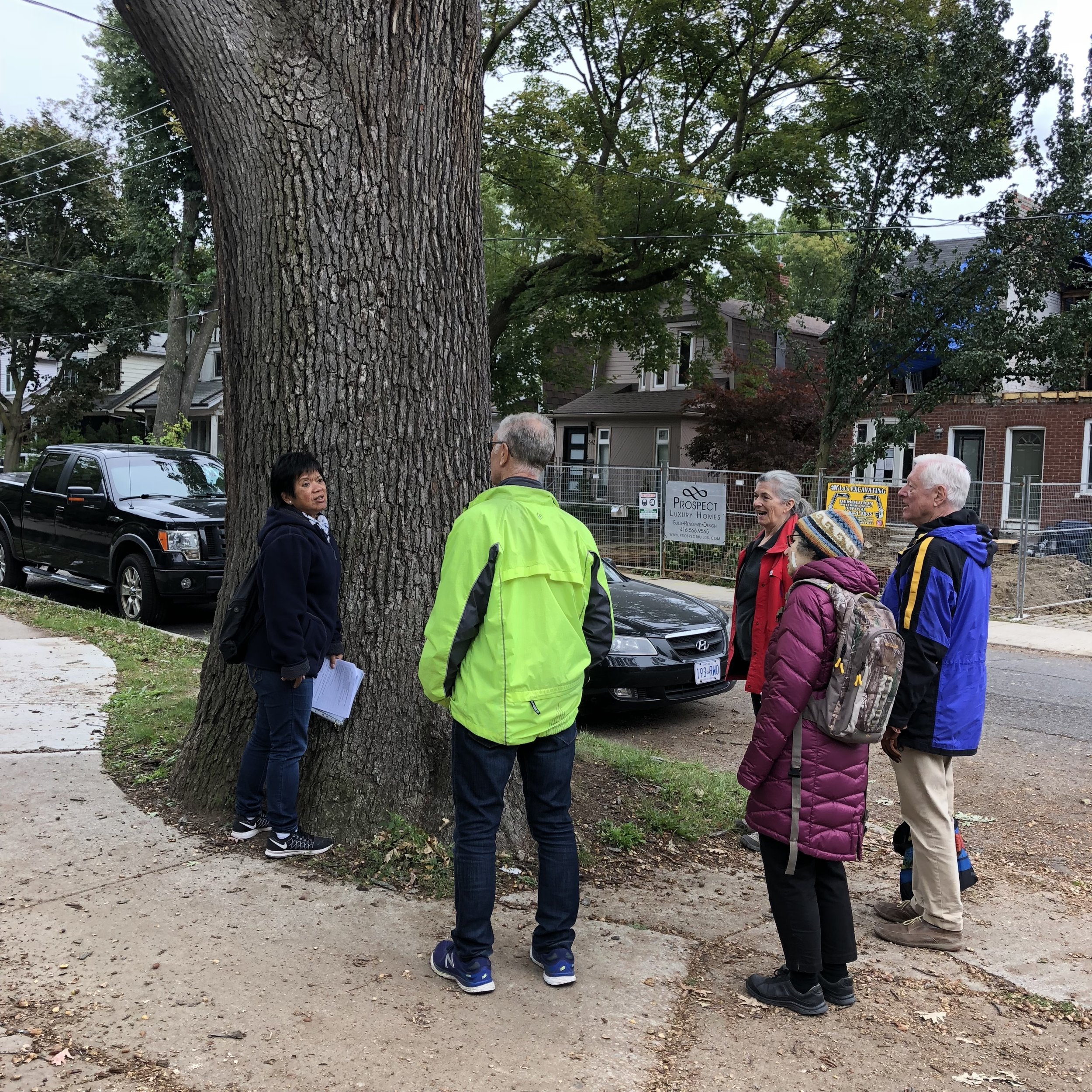 Amy Isaac (SERRA Heritage), leading the Davisville Village Heritage Walk, September 2018 Photo: Davisville Post