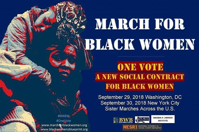 """This weekend, the #MarchForBlackWomen will be taking place in Washington, DC and New York City. The March and Rally """"is for those tired of asking for a seat at the table and ready to create their own table."""" Learn more here: www.facebook.com/marchforblackwomen/"""