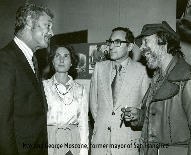 1976 Max at inauguration of Mural in San Francisco with Mayor George Moscone.jpg