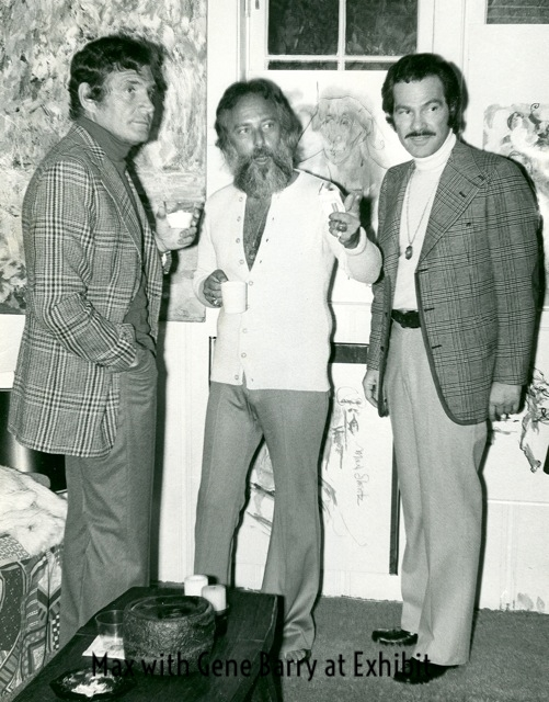 Max and Gene barry Actor at art reception.jpg