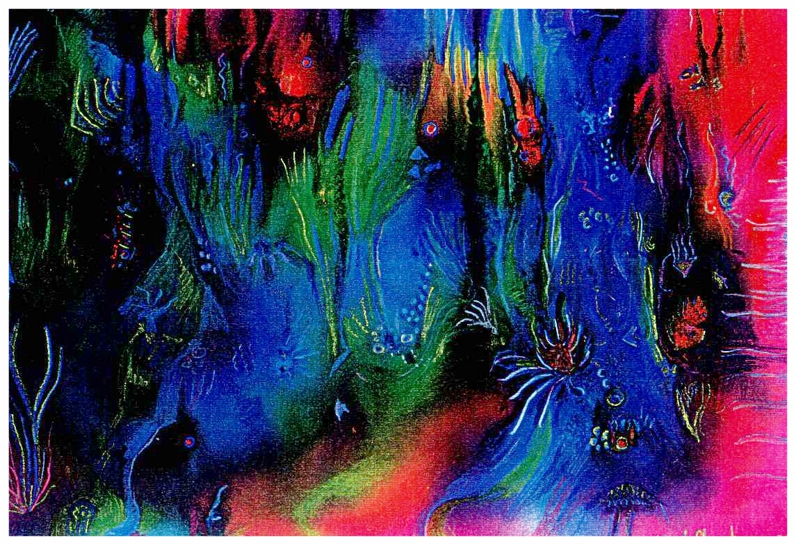 Color Caves 1999 14x8 Mixed Medium