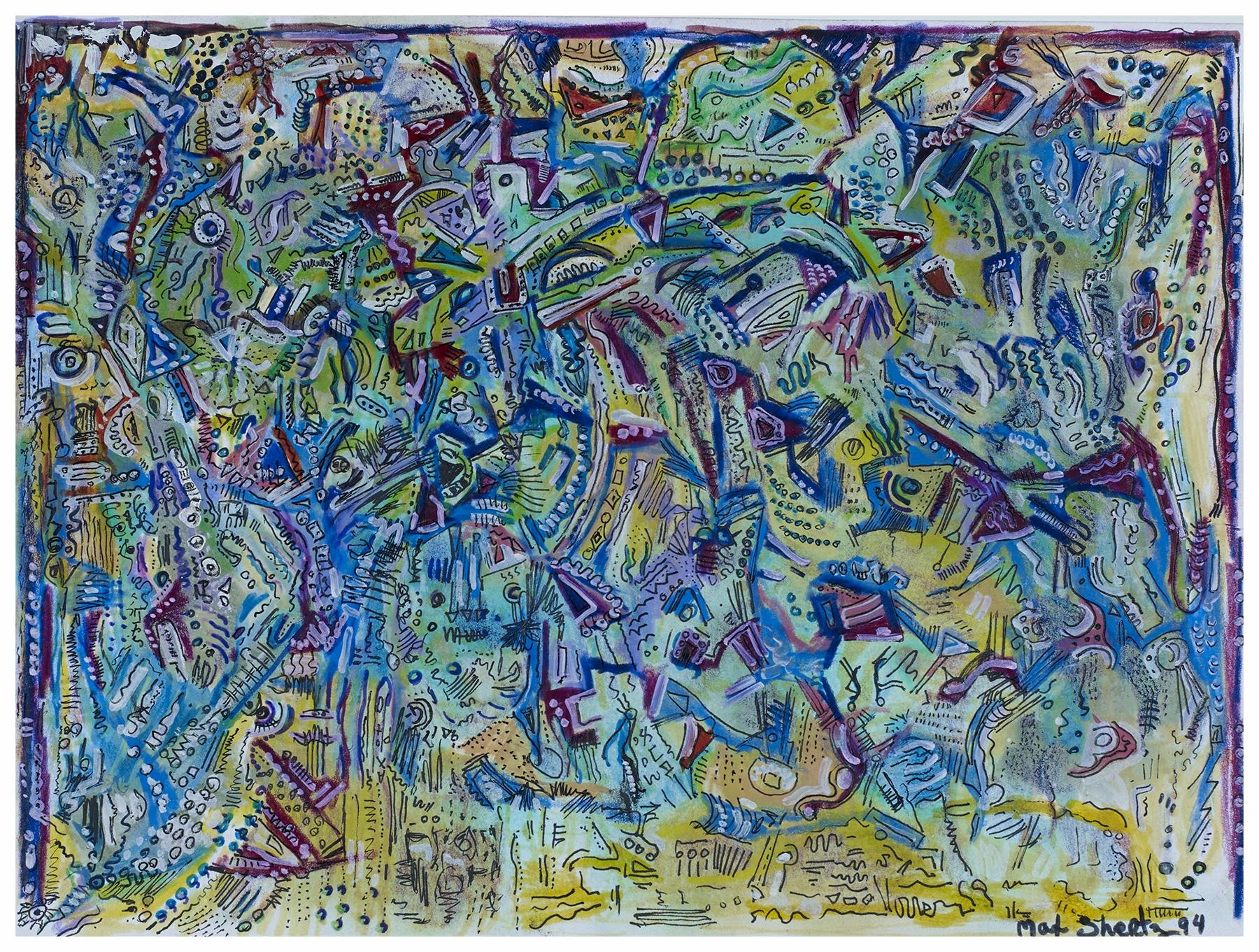 City Of Dreams 1994 9x12 Mixed Medium