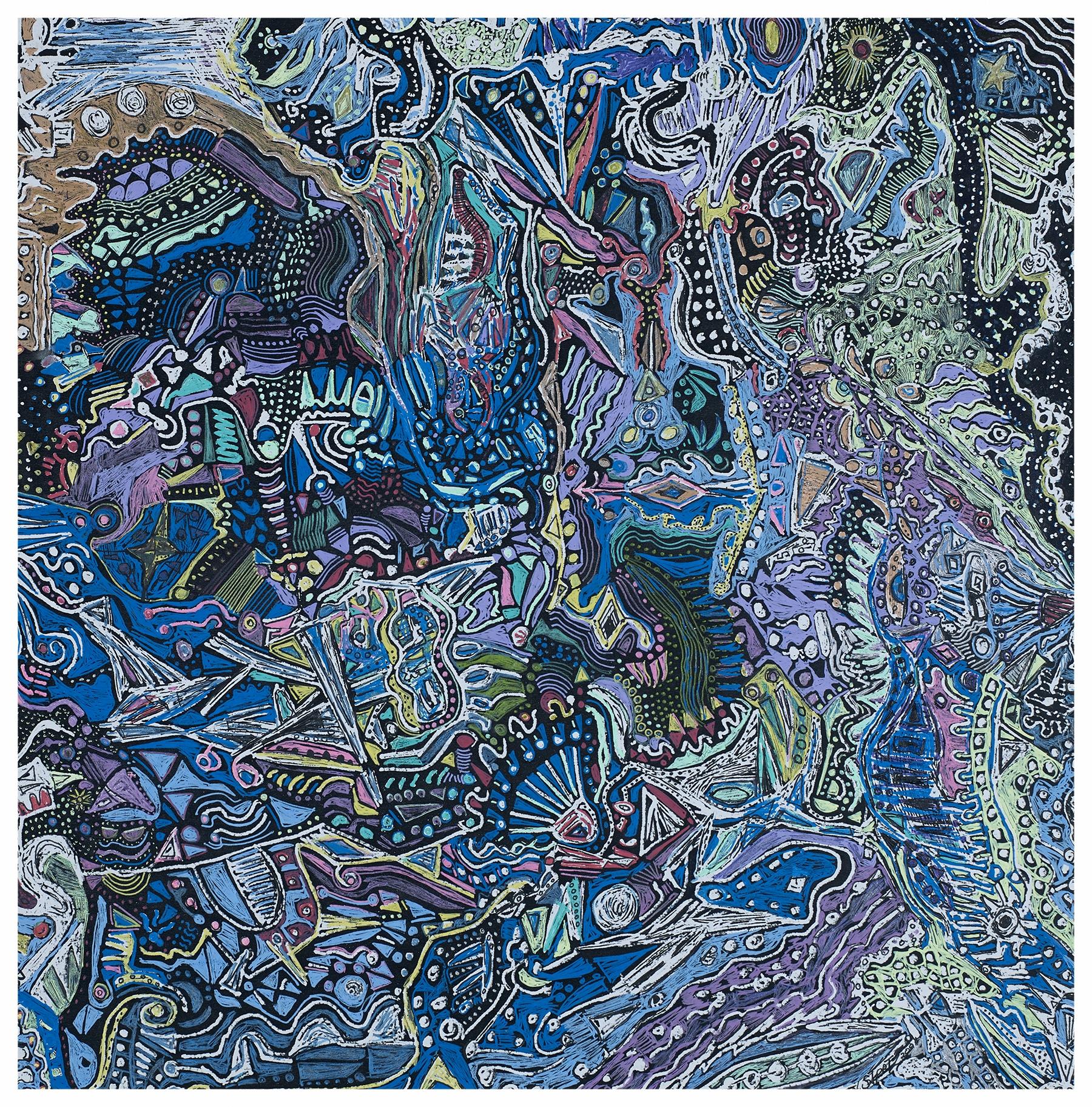 Montezuma 1995 15x14 Mixed Medium