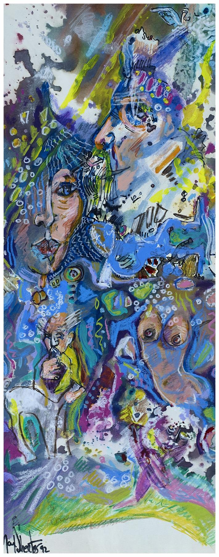 The Queen Of Sheba 1992 24x10 Mixed Medium
