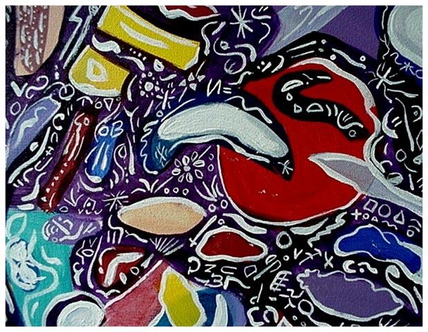 Deep Inner Space 1998 24x30 Acrylic