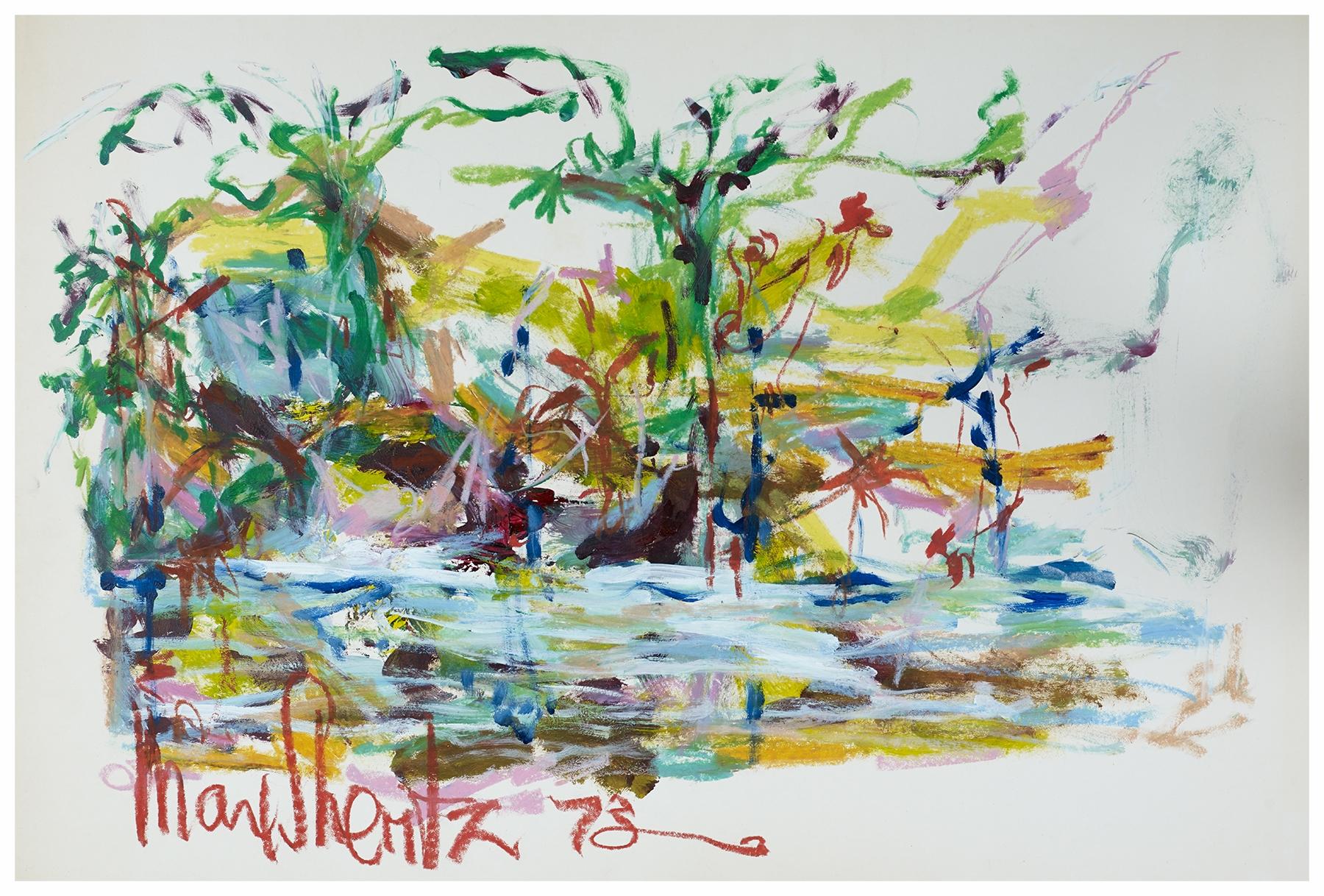 Everglades I 1975 24x35 Mixed Medium