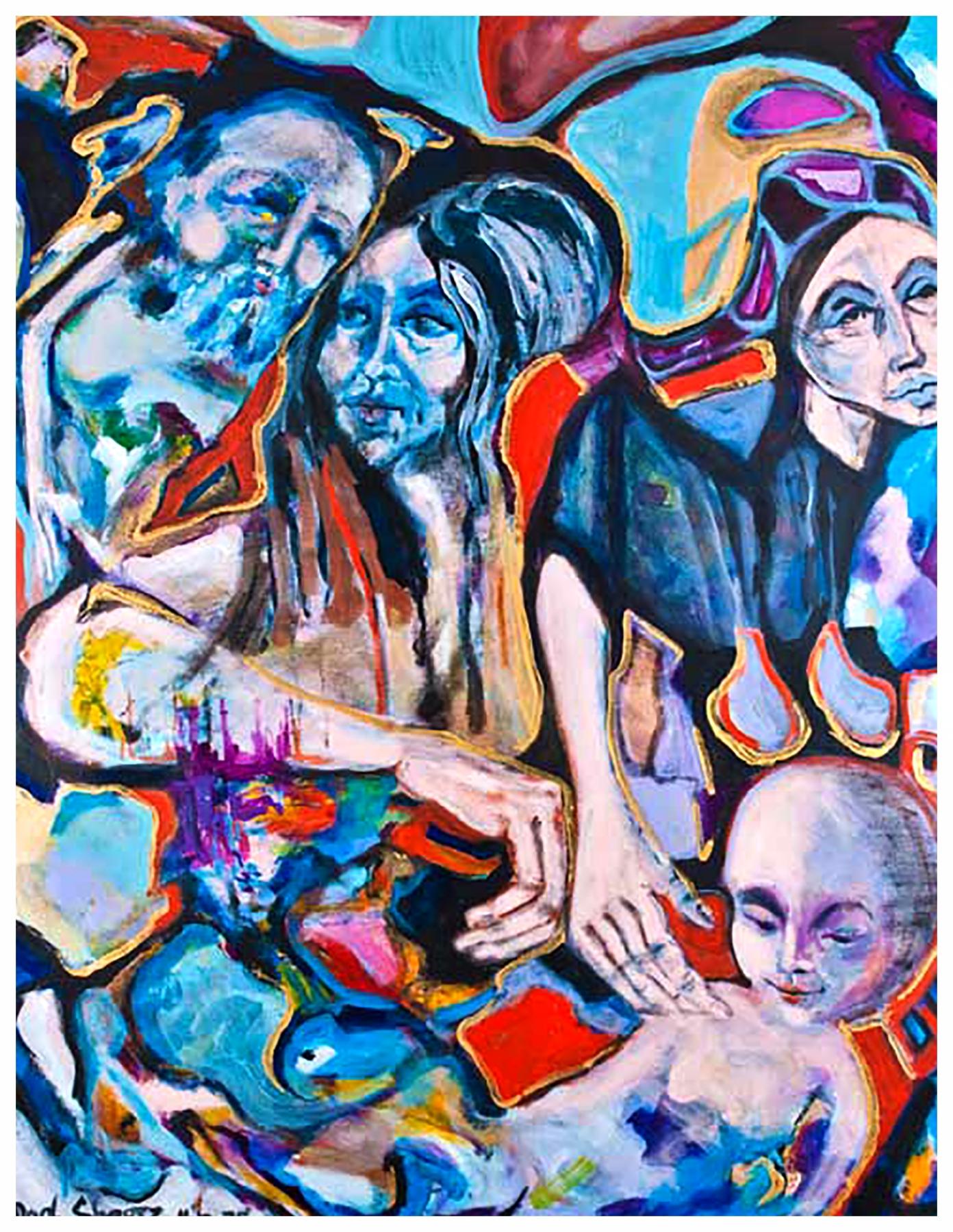 Moonchild 1975 56x44 Acrylic