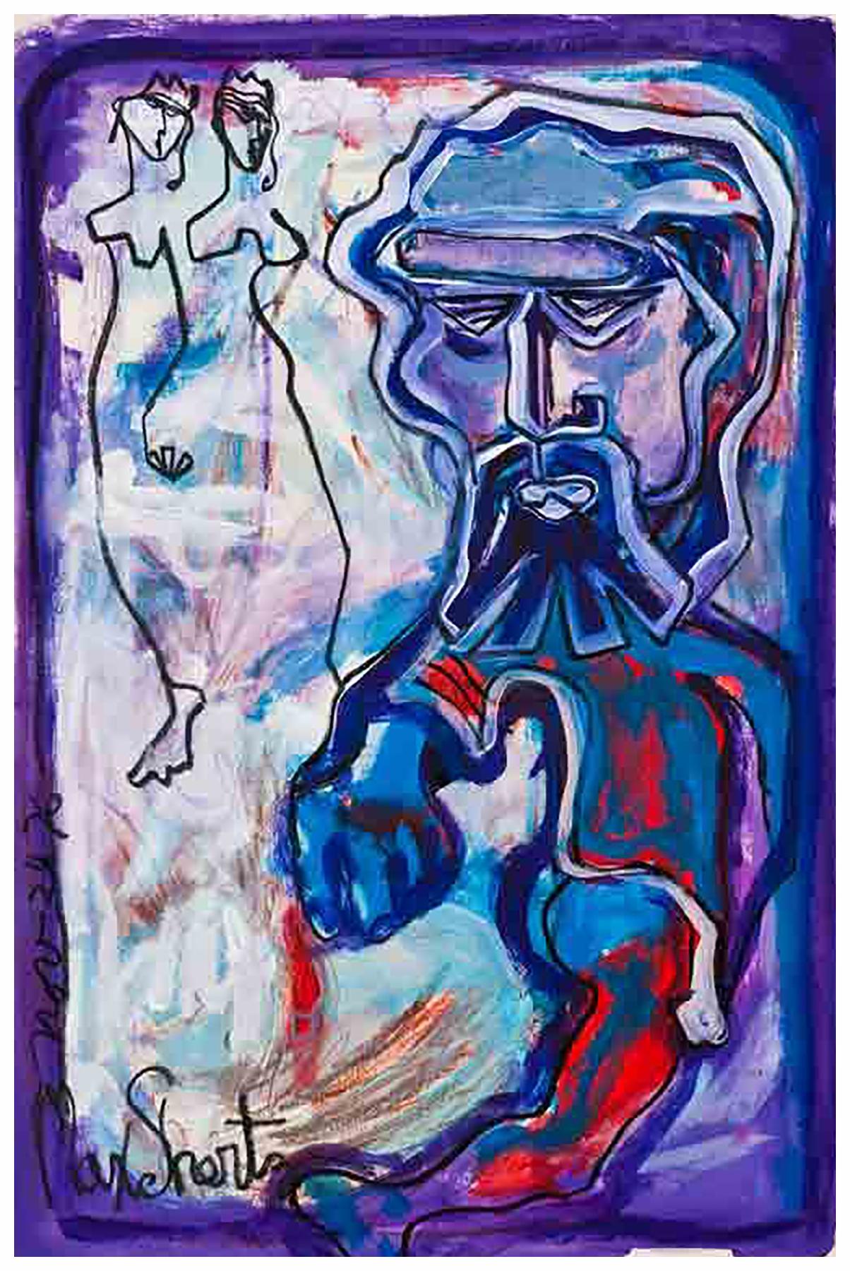 Cockman 1976 36x24 Mixed Medium