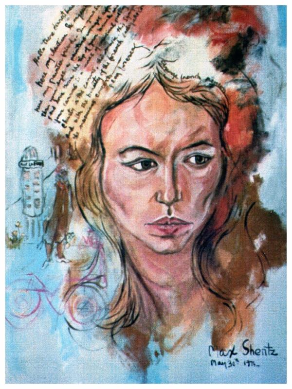 Christiane 1974 Mixed Medium