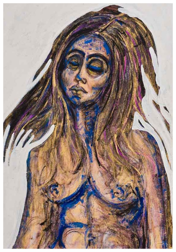 Edie In Gold 1977 Acrylic