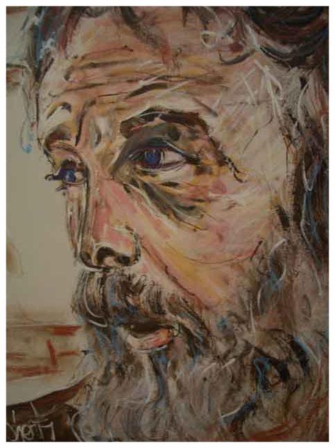 Self Portrait 1975 24x18 Acrylic