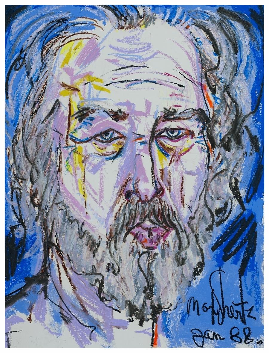 Self Portrait 1988 24x18 Mixed Medium
