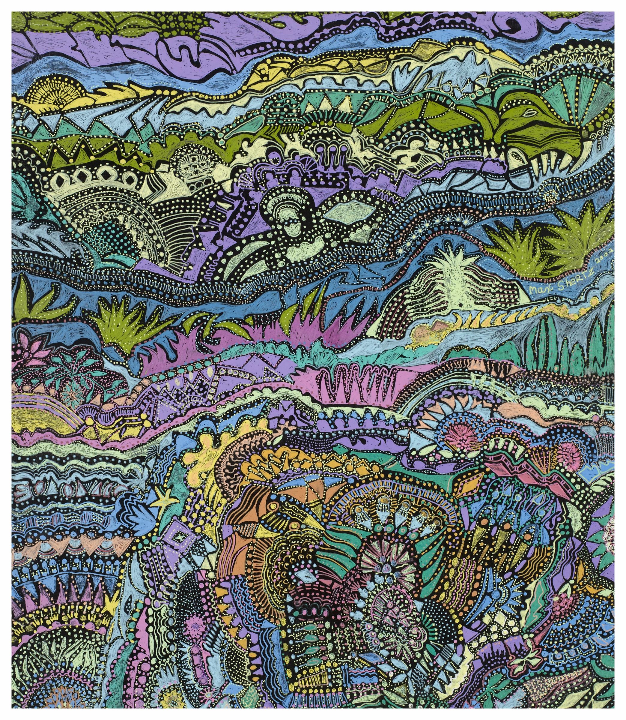 Dreams Of Bali 2000 12x10 Gel Pens