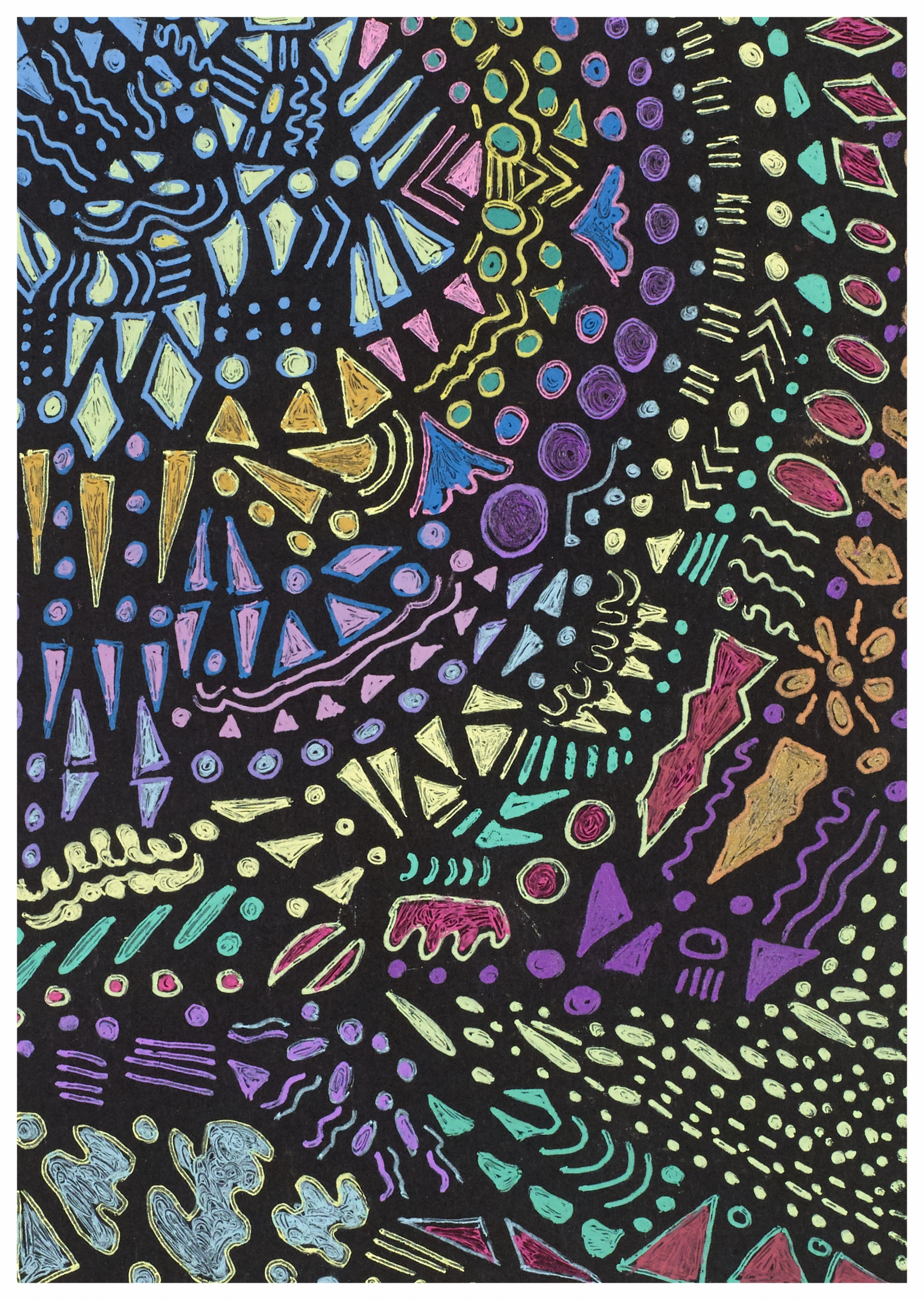 Stained Glass Abstract 2000 6x4 Gel Pens