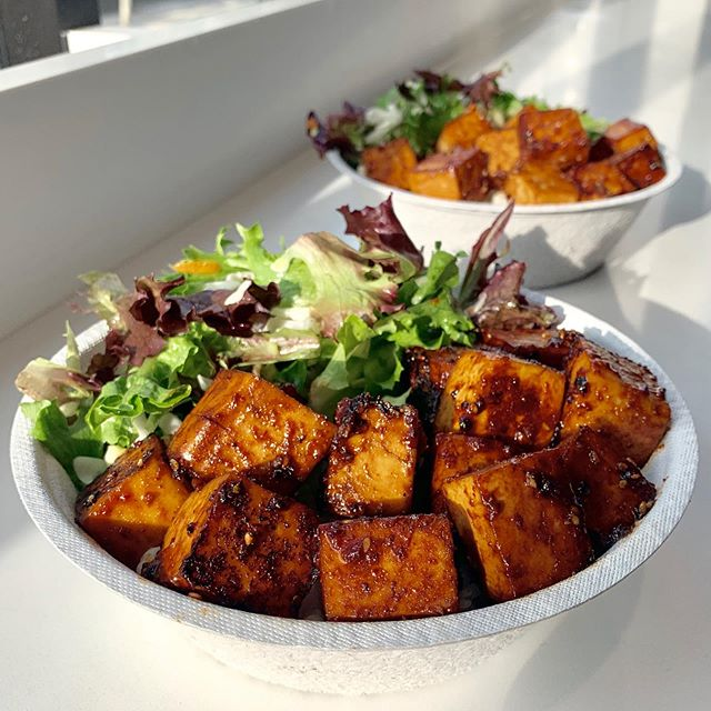 New menu item alert 🚨🚨🚨 Grilled tofu bowls featuring Phoenix Bean tofu in our Korean BBQ or Fire sauce.  100% vegan 100% delicious.