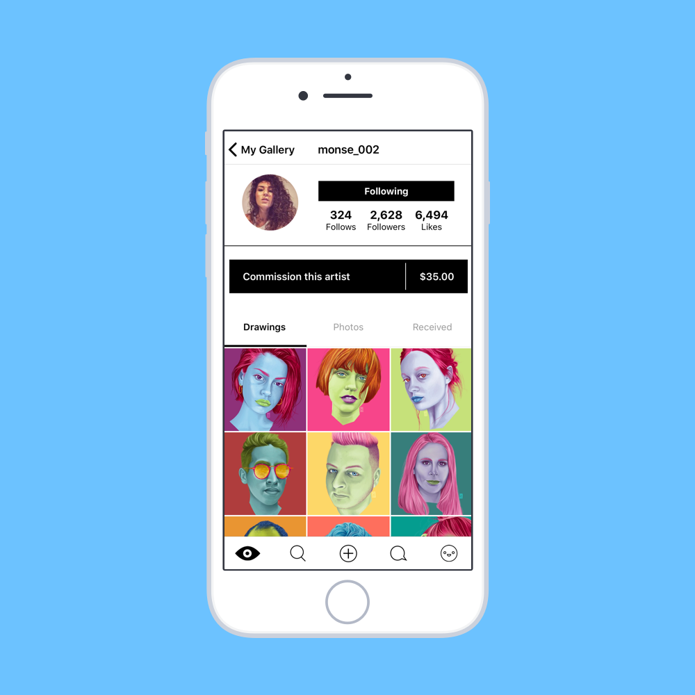 Commission an artist. - French Girls artists have the ability to set their price and receive commissions in the app. All payments are made, processed, and delivered in the app via paypal.