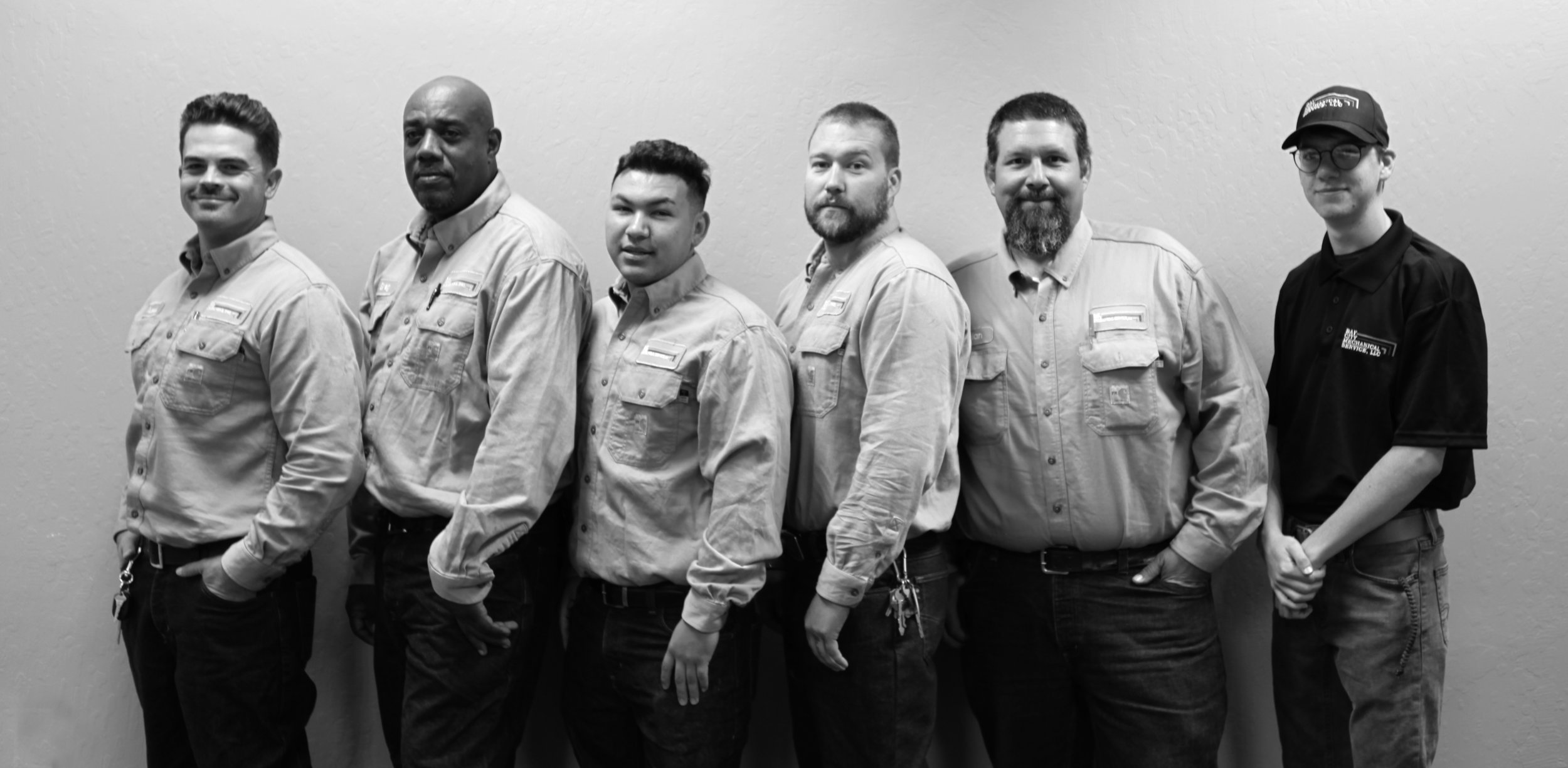 Field Technicians  (L to R) Travis Dilley, Greg Golston, Anthony Rivero, Ben England, Brian Harpman, Aiden Wallace
