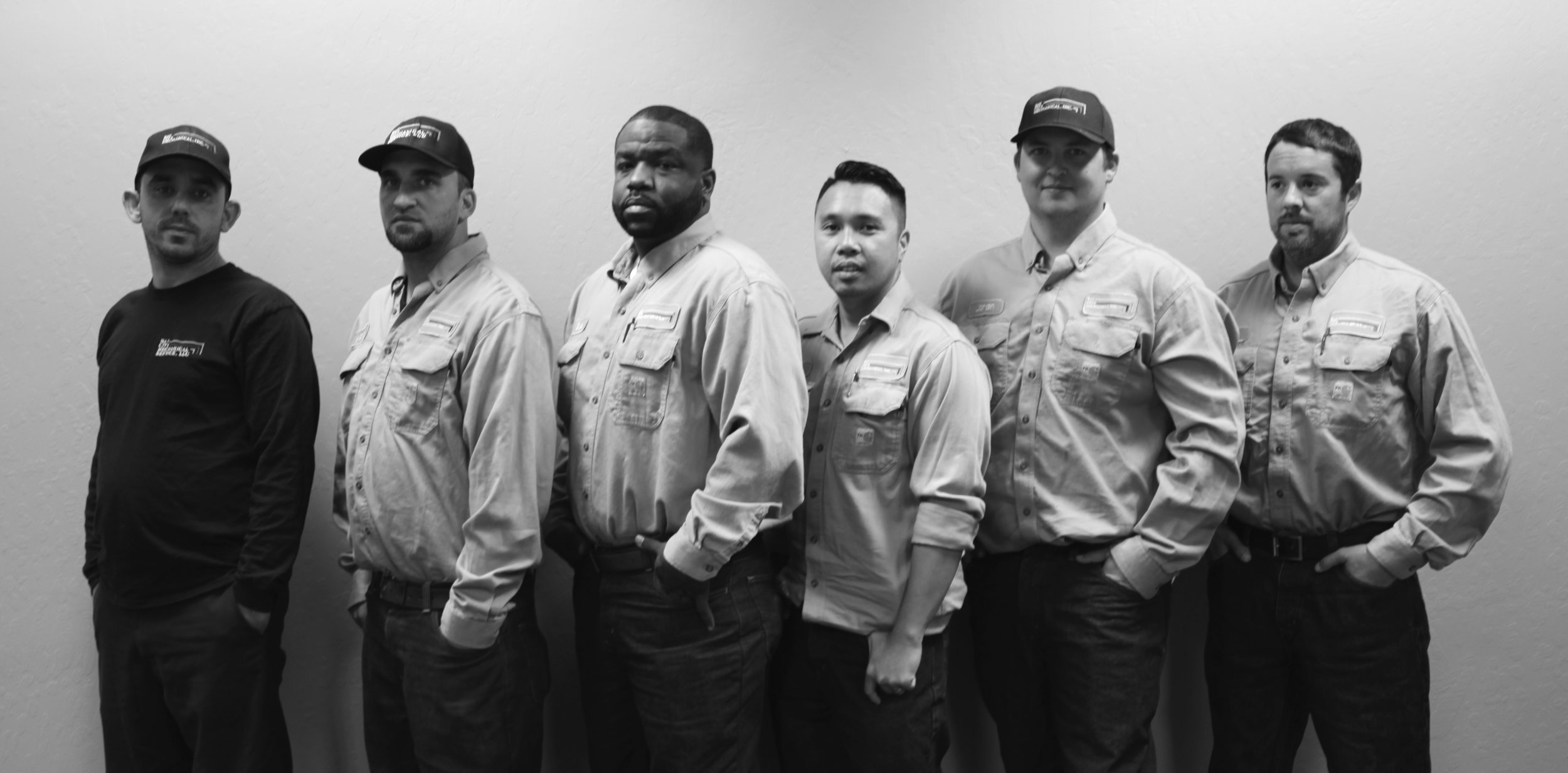 Field Technicians  (L to R) John Leal, Michael D'Angelo, Bruce Ford, Fred Cacatian, Jordin Collins, Sean Corbett