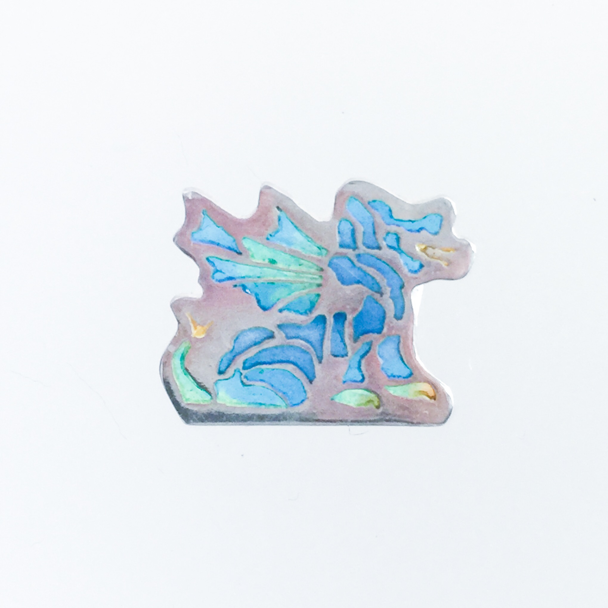 Small Sitting Dragon - Blues