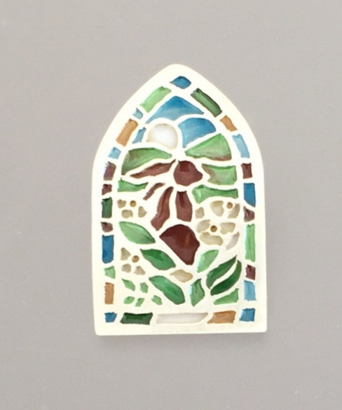 Rabbit in Stained Glass Window