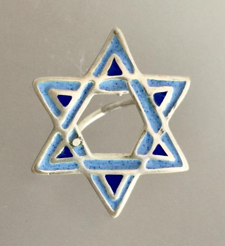 Star of David Opaque Light Blue/Blue