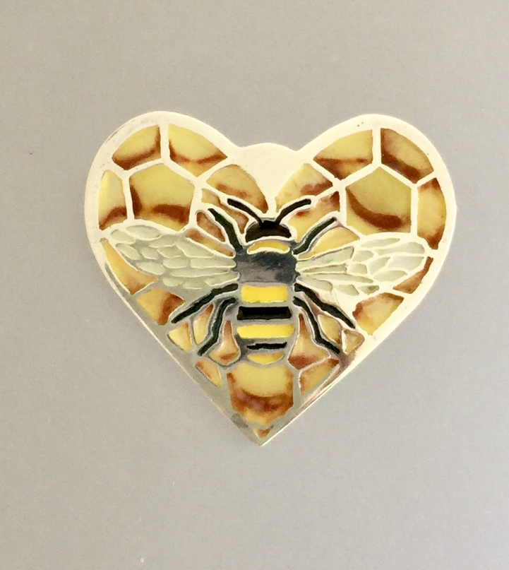 Bee in Honeycomb Heart